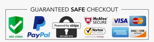 Safe and secure checkout badge
