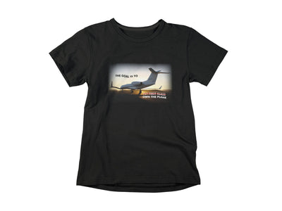 Own The Plane T-Shirts Invincible Collection X-Small Black