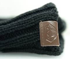 The Woven Beanie Accessories Invincible Collection Black