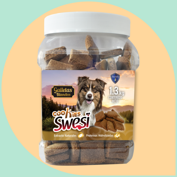 Swesi galletas blandas brownies snacks perros
