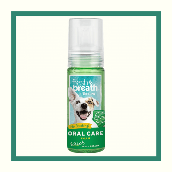 Tropiclean Fresh Breath - Espuma dental de menta fresca para perros y gatos 133 ml (4.5 oz)
