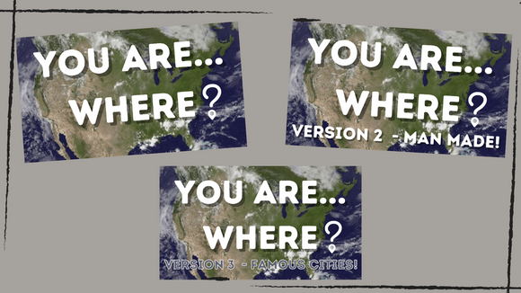 You are Where: 3 Pack On Screen Game