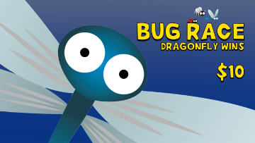 Bug Race [Dragonfly Wins] Racing Game Video