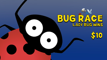 Bug Race [Ladybug Wins] Racing Game Video