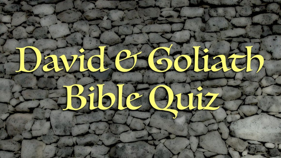 David and Goliath Bible Quiz Video