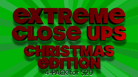 Extreme Close Ups Christmas Edition [4 Pack] Crowd Breaker Game by Shopify