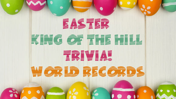Easter King of the Hill Trivia: World Record Edition On Screen Game