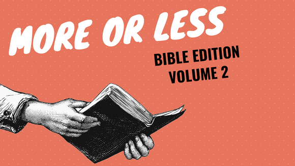 More or Less [Bible Edition Volume 2] On Screen Game