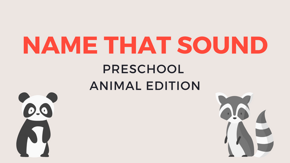 Name That Animal Sound [Preschool Edition] Crowd Breaker Video