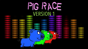 Pig Race [Version 1] Racing Game Video