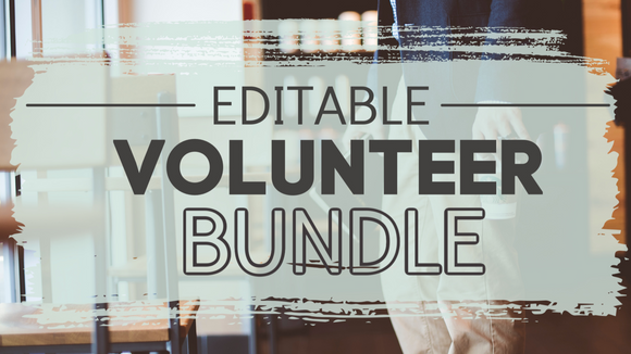 Editable Volunteer Bundle