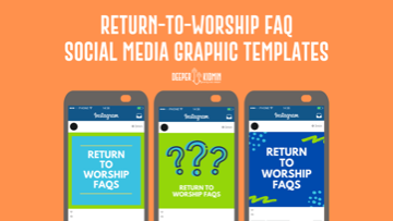 Return to Worship FAQ Social Media Graphic Templates