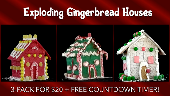 Exploding Gingerbread Houses [3 Pack] Crowd Breaker Game