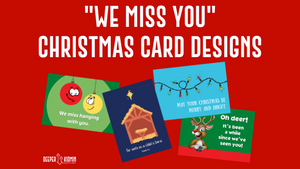 """We Miss You"" Christmas Postcards"