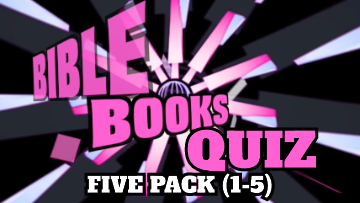 Bible Books Quiz Video 5 Pack [Versions 1-5]