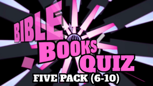 Bible Books Quiz Video 5 Pack [Versions 6-10]