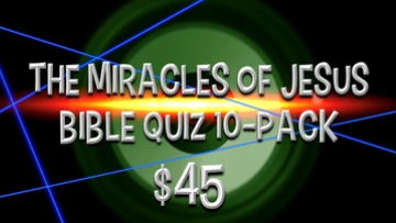 The Miracles of Jesus [10-Pack] Bible Quiz Game