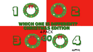 Which One is Different: Christmas Edition [4 Pack] Crowd Breaker Game