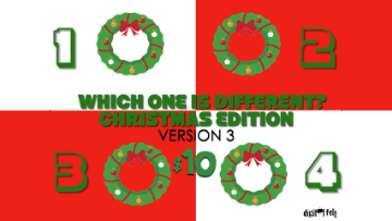 Which One is Different: Christmas Edition [Version 3] Crowd Breaker Game
