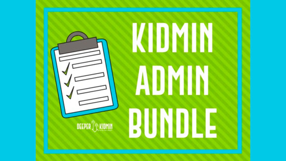 Kidmin Admin Bundle