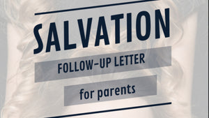 Salvation Follow Up Letter for Parents