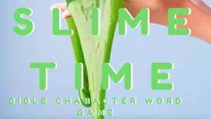Slime Time Bible Character Word Game