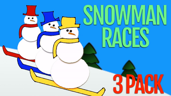 Snowman Races [3 Pack] Racing Game