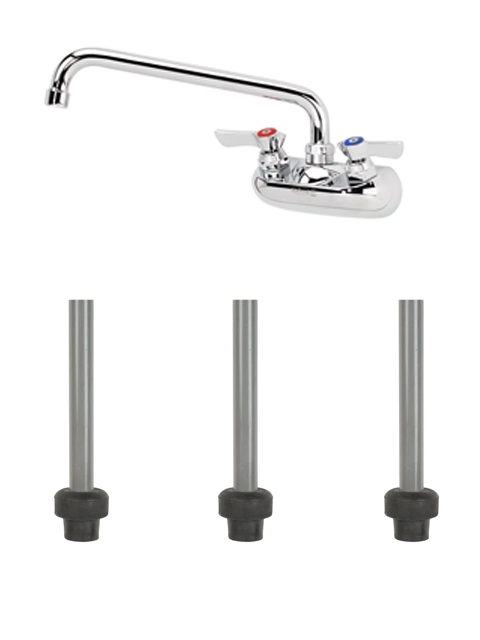 10-410L Bar Sink Faucet and Overflow Pipes