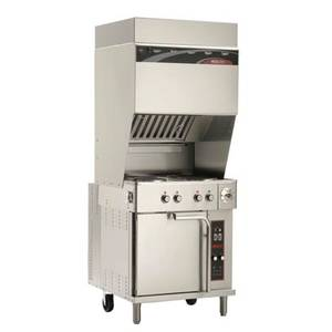 Reconditioned/Used: Wells, WVOC-4HS, Ventless Exhaust Range W/ Convection Oven