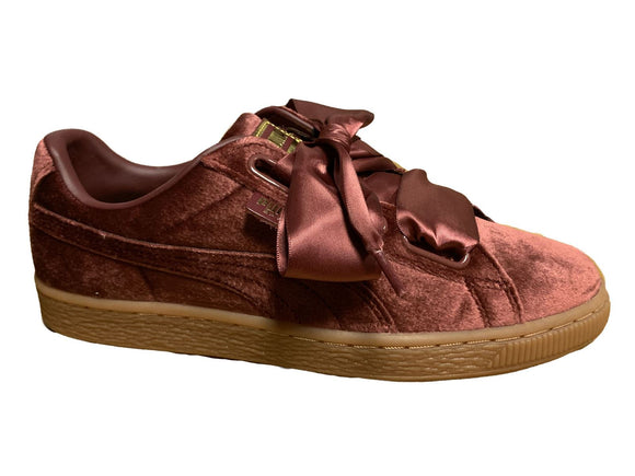 Puma Basket Heart Velvet 367274-02 Womens Trainers~RRP £75