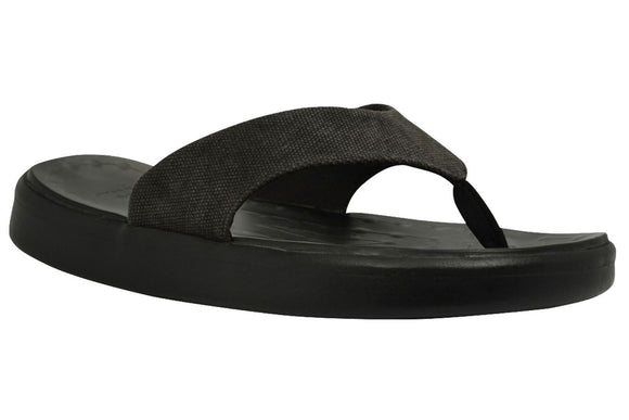 Soft Science Skiff Flip Flop Canvas UC0028BLK~Black~Canvas~Flip Flops