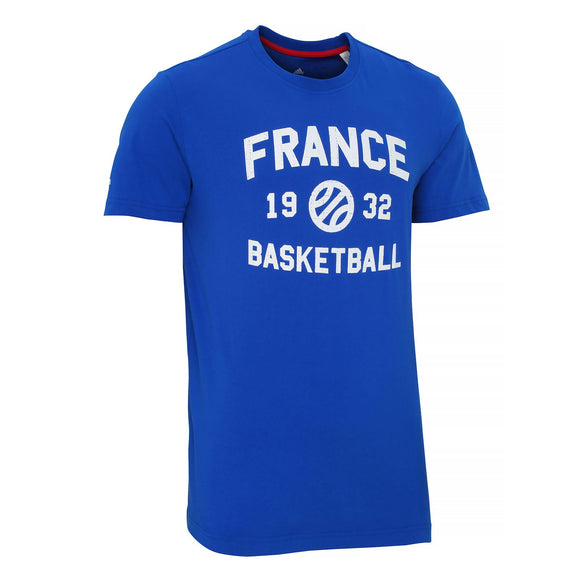 adidas French Federation Basketball Tee T-shirt S04531~Mens