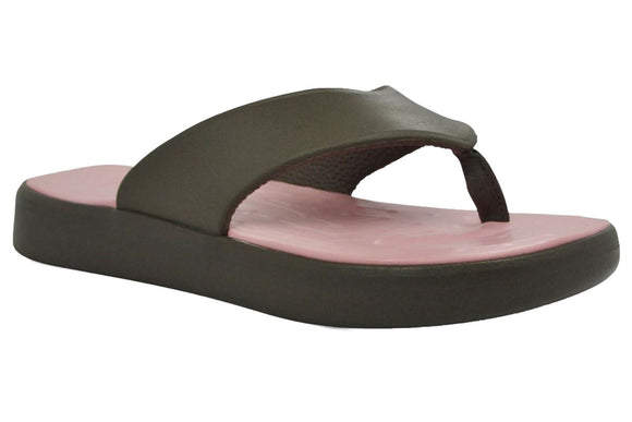 Soft Science Skiff Flip Flop UC0009CHR~Charcoal/ Light Pink~Flip Flops
