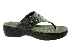 Rockport Fanessa Rivet Thong K61178 Womens Sandals~Leather