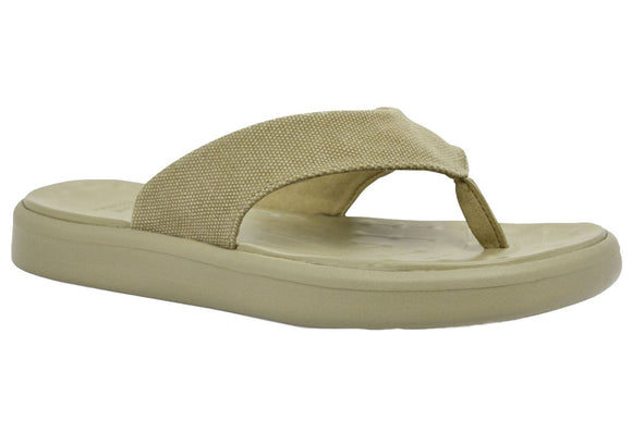 Soft Science Skiff Flip Flop Canvas UC0028KHA~Khaki~Canvas~Flip Flops
