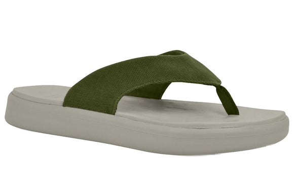 Soft Science Skiff Flip Flop Canvas UC0028SAG~Sage Green~Canvas~Flip Flops