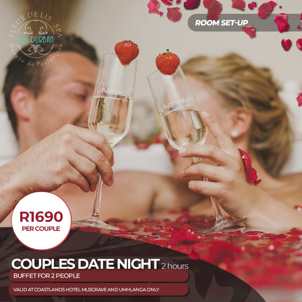 Date Night Couples Spa with a Buffet Dinner