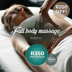 Spa Discount! Get R200 Off a 1h30mins Full Body Massage