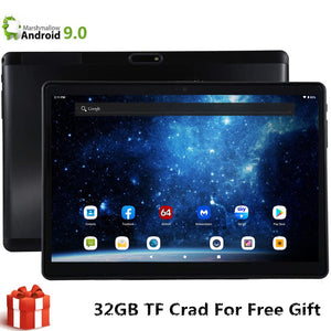 E1 S119 EMMC 32 GB + 32 GB TF 10 Polegada Tablet Global 4G LTE Bluetooth Wifi Smartphone Android 9.0 MTK Dual SIM Card 2.5D Tablet CE Band