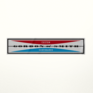 G&S Corp Logo Sticker Small - Red/Blue