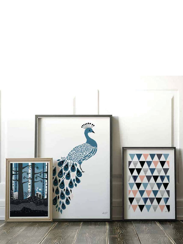Paket om tre posters Peacock