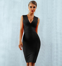 Load image into Gallery viewer, GLORIA - Black Bandage Dress
