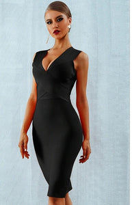 GLORIA - Black Bandage Dress