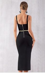 HEIDI - Black Bandage Dress