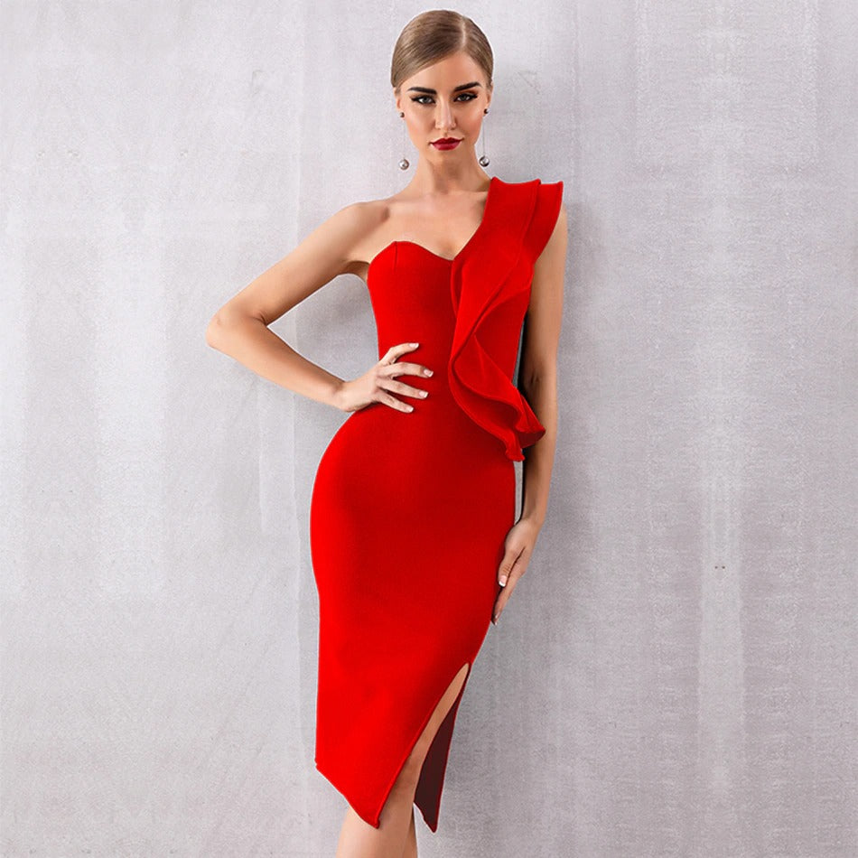 GRACE - Red Bandage Dress