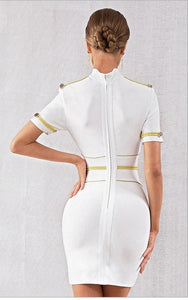 SHELIA -  White Bandage Dress