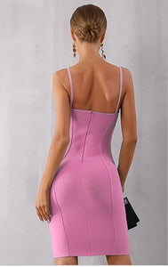 AMY - Pink Bandage Dress