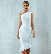 Load image into Gallery viewer, LINDA - White Bandage Dress