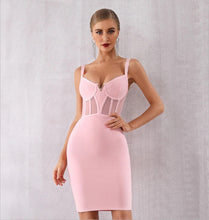 Load image into Gallery viewer, NAOMI - Pink Bandage Dress