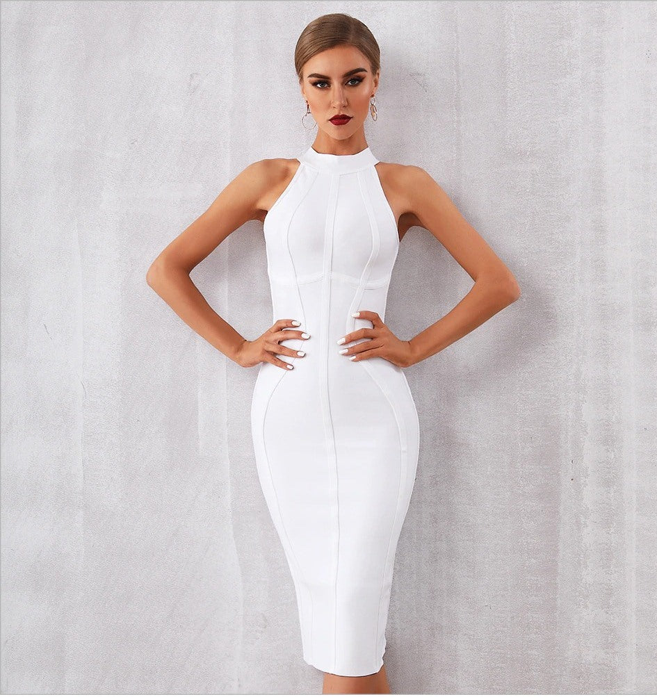 JESSICA - White Bandage Dress